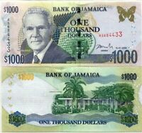 JAMAICA 1000 1,000 DOLLARS 2009 P 78 UNC