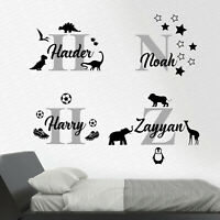BOYS Personalised Wall Art Sticker NAME for nursery bedroom custom