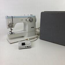 VTG ELNA SU 62C  Sewing Machine w/ Case + Original Foot Pedal Tavaro Switzerland