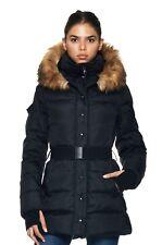New S13/NYC Women Down Winter Coat Jacket Black Size S UK10 EU36