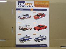 Foxtoys Czech Models Cars, Neuheitenblatt, News 2014, englisch, 4 Seiten