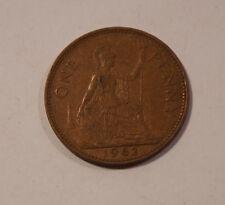 ONE PENNY ENGLAND von 1962 Elizabeth II Great Britain England Münze (A6)