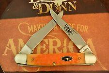 CASE XX BROOKS & DUNN ORANGE BONE MUSKRAT KNIFE SS 2008 IN ORIGINAL TIN (6227)