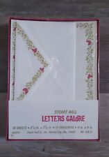 Vintage Stuart Hall Letters Galore Stationery Set Pink Butterflies Sealed Box