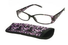 foster grant reading glasses Daydreamer Purple  +2.00 With Free Matching Case