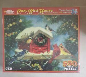 White Mountain Puzzle Cozy Bird House NEW SEALED 550 PC Puzzle
