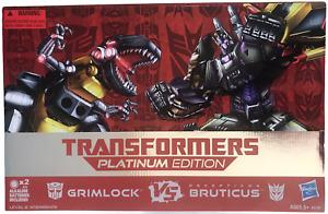 Transformer Platinum Edition Grimlock Vs Bruticus Action Figure Box Set NEW 2014