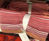 Pottery Barn Cannon Stripe Throw Desert Rose 50x70 Blanket Southwest Pastel New