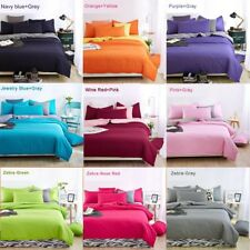 Queen Bed Duvet Quilt Cover Flat Sheet & Pillowcases 4 piece SET Various colours