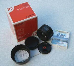 Sony 50mm F/1.4 Lens - SAL50F14 - For Sony SLT / DSLR A-Mount