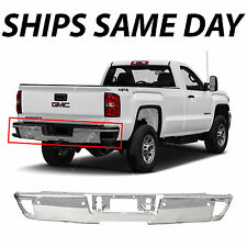 NEW Chrome Steel Step Bumper Face Bar for 2014-2017 Chevy Silverado & GMC Sierra
