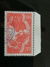 1935 chômeur intellectuel 50c+2f rouge brique Y&T 308 Sc B43 cote 55€ cv $65