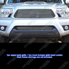 Fits 2012-2013 Toyota Tacoma Billet Grille Grill Insert Combo