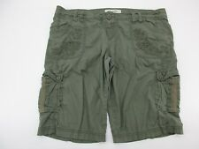 *AMERICAN RAG* SIZE 15 WOMEN'S GREEN STRETCHY 97% COTTON CASUAL SHORTS