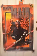 STAR WARS THE PHANTOM MENACE Darth Maul Movie Poster Episode 1 1999 (D)
