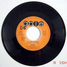ONE 1977'S 45 R.P.M. RECORD, SHAKE, I'M SINGING THIS SONG FOR YOU + DE SON ENFAN