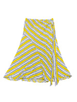 New $98 value ASTR The Label Size Large Mustard Striped Wrap-Around Maxi Skirt