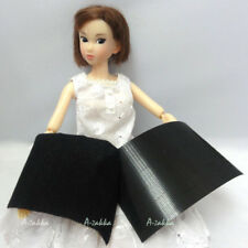 1/6 bjd Doll Dress Making DIY Material Hook & Loop Thin Magic Tape Black (4 Set)