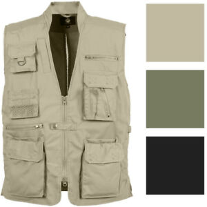 Tactical Concealed Carry Vest Cargo Travel Outdoor Plainclothes CCW Multi-Pocket