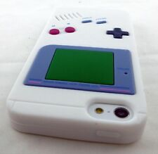 WHITE FUN GAME BOY GAMEBOY SILICONE RUBBER SKIN CASE COVER APPLE IPHONE SE 5 5S