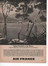 Air France Fastest To The Riviera Vintage Print Ad Time Magazine June 7 1963
