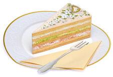 Pop-up-3 D-mapa boda o cumpleaños: deliciosa helle sahntorte