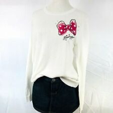 NEW Disney Minnie Mouse Pink Back Draped Sweater