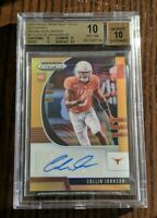 2020 Prizm Draft Picks COLLIN JOHNSON Neon Orange Auto # /149 - BGS 10 Pristine!
