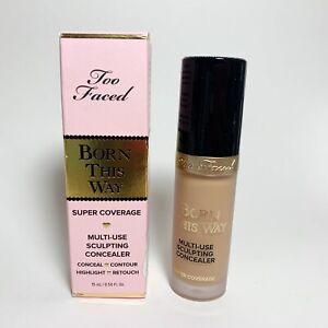 Too Faced Born This Way Multi Use Sculpting Concealer FULL SIZE NIB GOLDEN .50oz