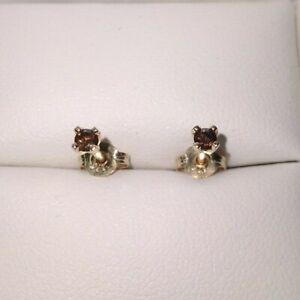 NEW Genuine 9ct 9k 375 Yellow Gold Ladies Stud Earrings Beautiful Diamonds