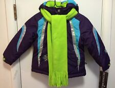 ROTHSCHILD Girl's Eggplant  Hooded Coat with Scarf~~Size S(4)