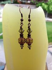 Calipso Handmade Earrings Jewelry,Precious Stones & Swarovski Crystals Style#205