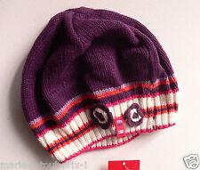 bonnet ESPRIT pour fille enfant 50% coton violet NEUF de hat cap girl taille L