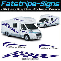 3m MOTORHOME VINYL CHECKER GRAPHICS STICKERS DECALS CAMPER VAN CARAVAN HORSEBOX
