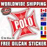 POLO IRON CROSS car sticker RED old school MK1 G40 85mm