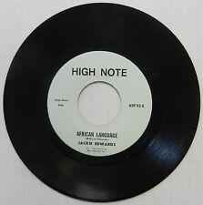 JACKIE EDWARDS 45 African Language HIGH NOTE Reggae Dub #S42