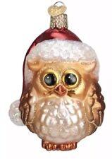 Santa Owl (16098) Old World Christmas Ornament