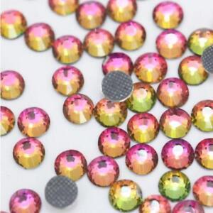 1440 pcs Hotfix Iron-on Rhinestones Crystals Flatback 10gross Multi-Colors 2-5mm