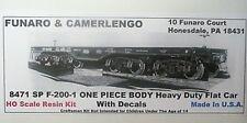 Funaro  F&C HO Southern Pacific F-200-1 Heavy Duty Flat Car Kit  8471