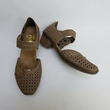 Rieker Antistress Womens Shoes Heels Perforated Mary Janes Beige Size US 6 EU 37