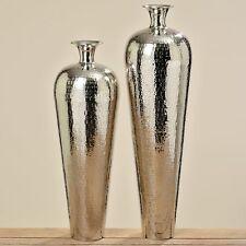 Large Vase Carrol 74cm Height Polished Aluminium Silver Floor Decorative NEW