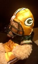 Babw Build a Bear Green Bay Packers Football Uniform Bear Plush Stuffed Animal