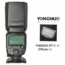 Yongnuo YN600EX-RT II Wireless HSS Master Flash Speedlite for Canon +Diffuser UK