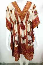 Butterfly Print Kaftan Short length dress V-neck Top Kaftan Gorgeous beach