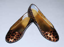J Crew Factory Crewcuts Girls Patent Tortoise Leopard Ballet Flats Shoes 2 Youth