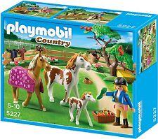 BNIB Playmobil 5227 PONY FARM Paddock with Horses and Foal