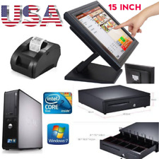 New Touchscreen 15inch Point of Sale System Pos Restaurant + 2 Printers