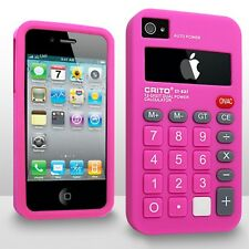 Calculator Novelty Design iPhone 4/4s Silicone Case - HOT PINK