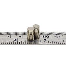 40pcs Strong 6mm x 1mm Rare Earth Small Thin Neodymium Disc Magnets