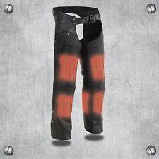 Milwaukee Leather Men's Chaps W/ Zipp-Thigh Pockets & Heated Technology *MLM5513